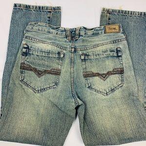 urban up Pants - Urban Up Men's 30 x 32 Blue Slim Straight Denim